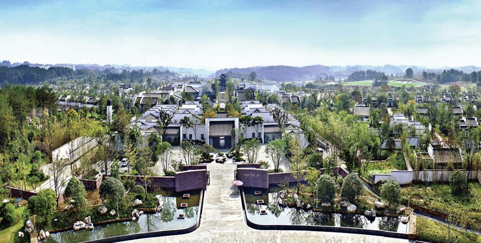 楼酒店采用传统徽南文化中建筑与景观的造型设计风格